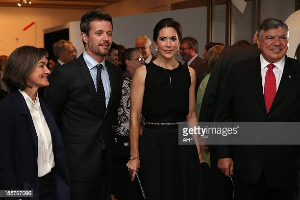Prince Frederik and Princess Mary of Denmark attend the launch of MADE and Architecture makes the City with Opera House CEO Louise Herron and...