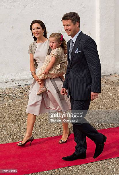 Prince Frederik and Princess Mary with Pincess Isabella attend the Christening of Prince Henrik Carl Joachim Alain of Denmark at Mogeltonder Church...