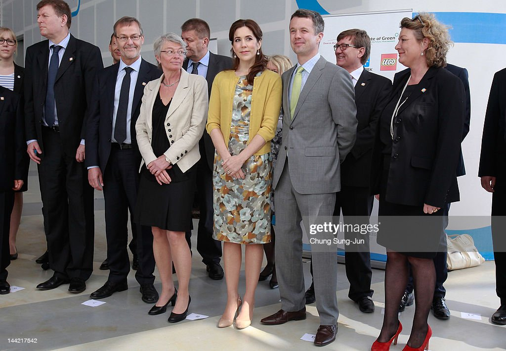 Prince Frederik of Denmark and Crown Princess Mary of Denmark attend an opening ceremony of the Denmark Pavilion at the 2012 Yeosu Expo on May 12, 2012 in Yeosu, South Korea. The Crown Prince and Crown Princess of Denmark are on a six-day visit to South Korea.