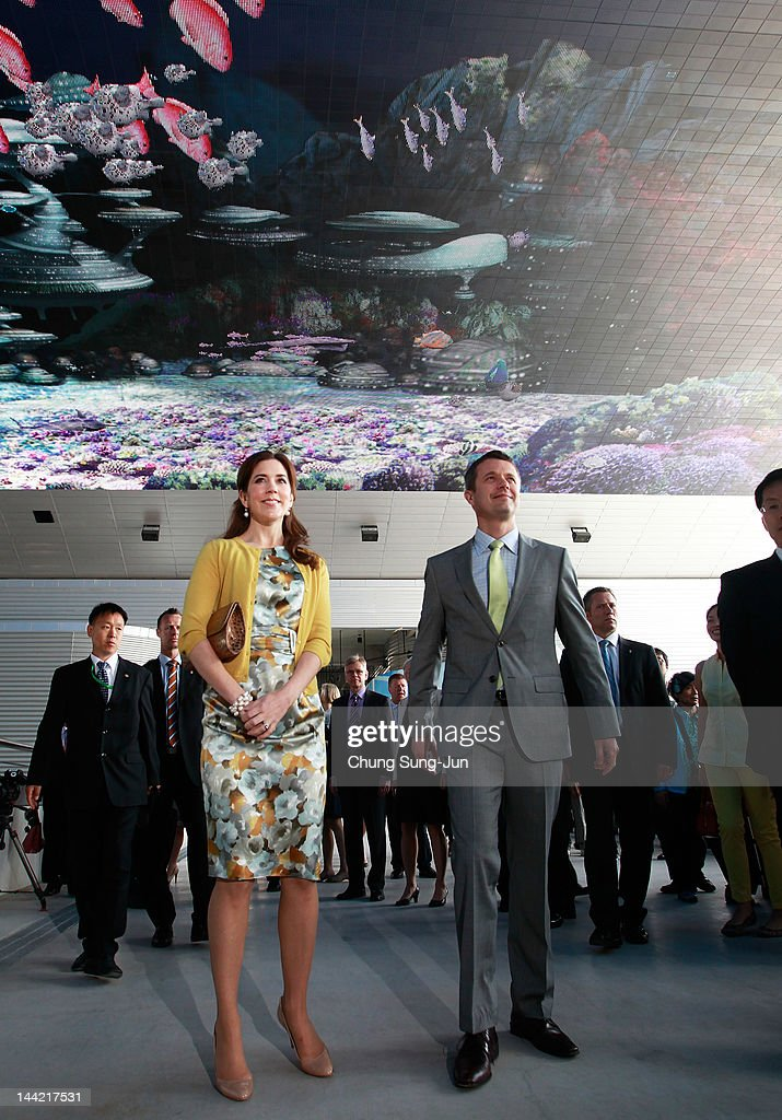 Prince Frederik of Denmark and Crown Princess Mary of Denmark visit at the 2012 Yeosu Expo on May 12, 2012 in Yeosu, South Korea. The Crown Prince and Crown Princess of Denmark are on a six-day visit to South Korea.