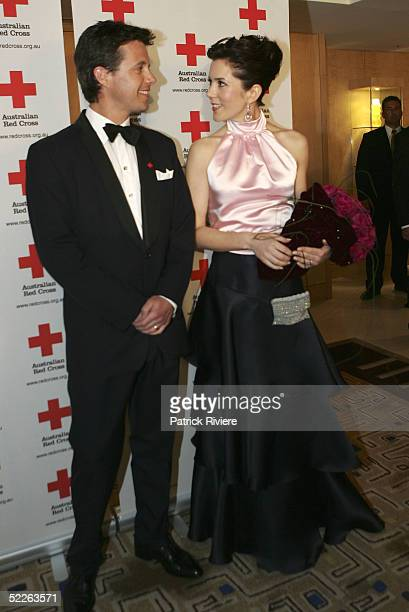 Prince Frederik of Denmark and Princess Mary of Denmark arrive at the Australian Red Cross 90th Anniversary Gala at the Westin Hotel March 2 2005 in...