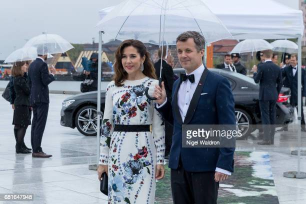 Prince Frederik of Denmark and Princess Mary of Denmark arrives at the Opera House on the occasion of the celebration of King Harald and Queen Sonja...