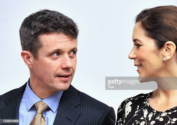 Prince Frederik of Denmark and Princess Mary of Denmark wait for a meeting with Australian Opposition Leader Tony Abbott at Parliament House on...