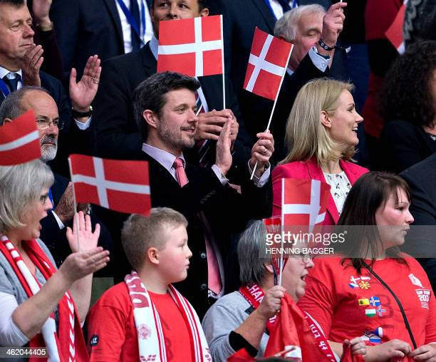 Prince Frederik of Denmark and the Danish Prime Minister Helle Thorning Schmidt attend the opening of the men's EHF Euro 2014 Handball Championship...