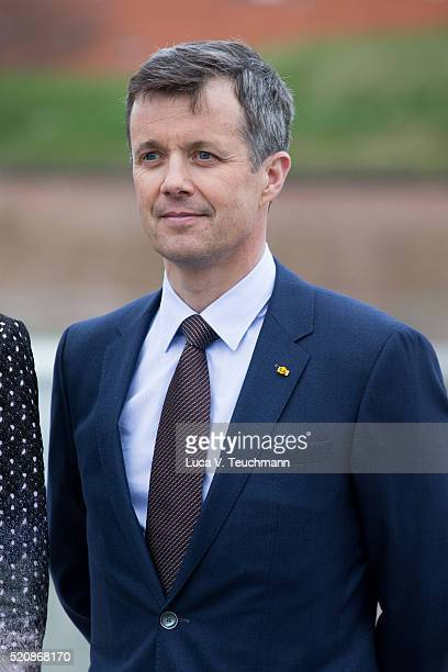 Prince Frederik of Denmark during a visit from the United Mexican States on April 13 2016 in Helsingor Denmark