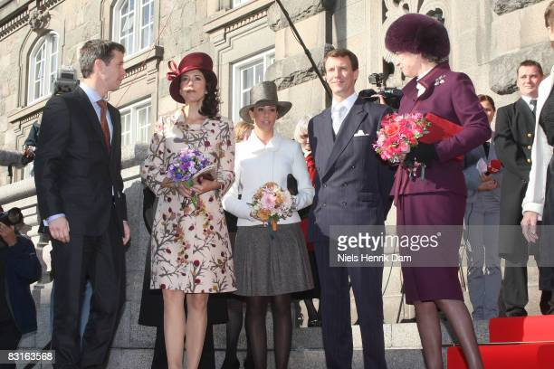 Prince Frederik Princess Mary Princess Marie and Prince Joachim and Princess Benedikte of Denmark attend the opening of the Folketingets...
