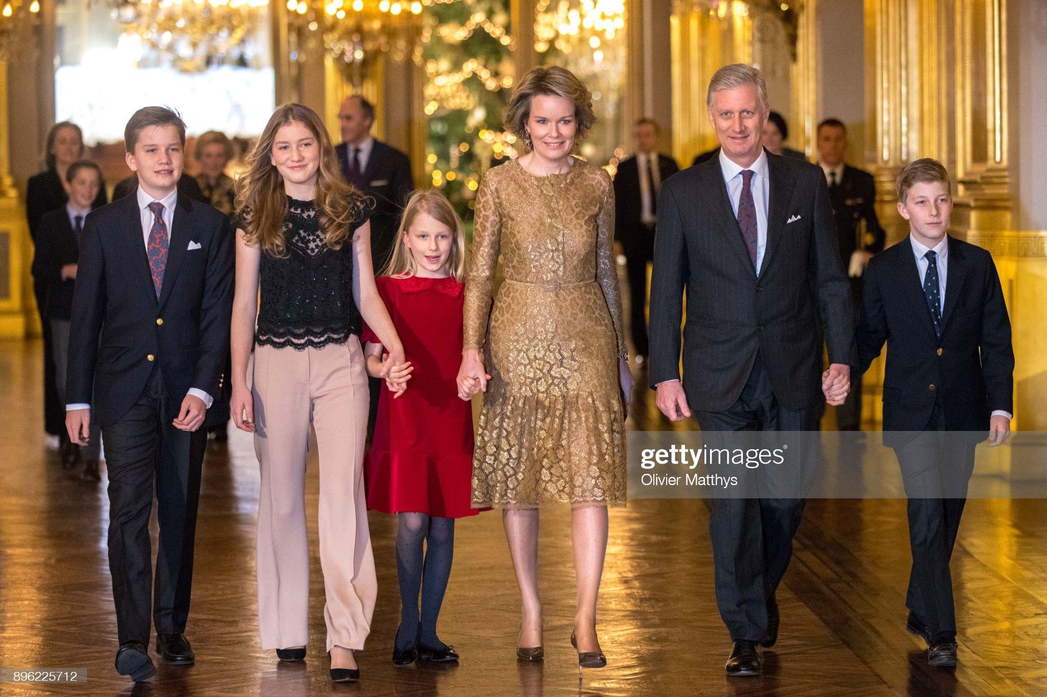 Вечерние наряды Королевы Матильды Belgian Royal Family Attends Christmas Concert At Royal Palace In Brussels : News Photo