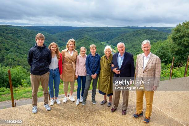 Prince Gabriel of Belgium, Princess Elisabeth of Belgium, Queen Mathilde of Belgium, Princess Eleonore of Belgium, Prince Emmanuel of Belgium, Queen...