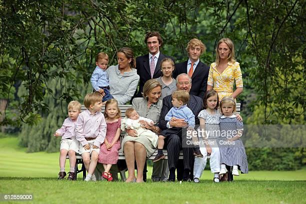 Prince Gabriel Prince Emmanuel Princess Elisabeth Princess Eleonore Queen Paola Prince Nicolas King Albert II Princess Laetitia Maria Princess Louise...