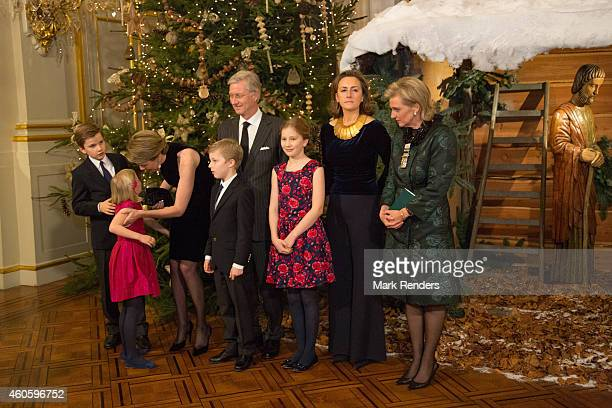 Prince Gabriel Princess Eleonore Queen Mathilde Prince Emmanuel King Philippe Princess Elisabeth Princess Claire and Princess Astrid of Belgium...