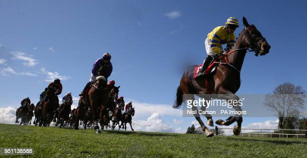 Prince Garyantle ridden by Adam Short on the way to winning the Adare Manor Opportunity Series Final Handicap Hurdle during day two of the...