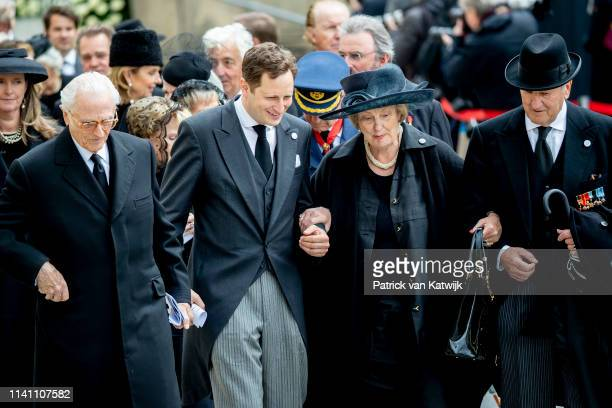 Prince Georg Friedrich of Prussia attend the funeral of Grand Duke Jean of Luxembourg on May 04 2019 in Luxembourg Luxembourg