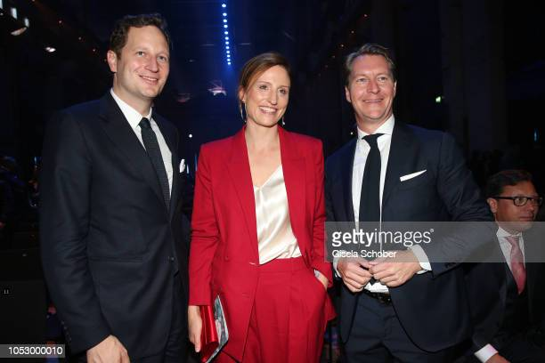 Prince Georg Friedrich von Preussen and his wife Princess Sophie von Preussen and Matthias Mey during the Tribute to Bambi 2018 charity gala benefit...
