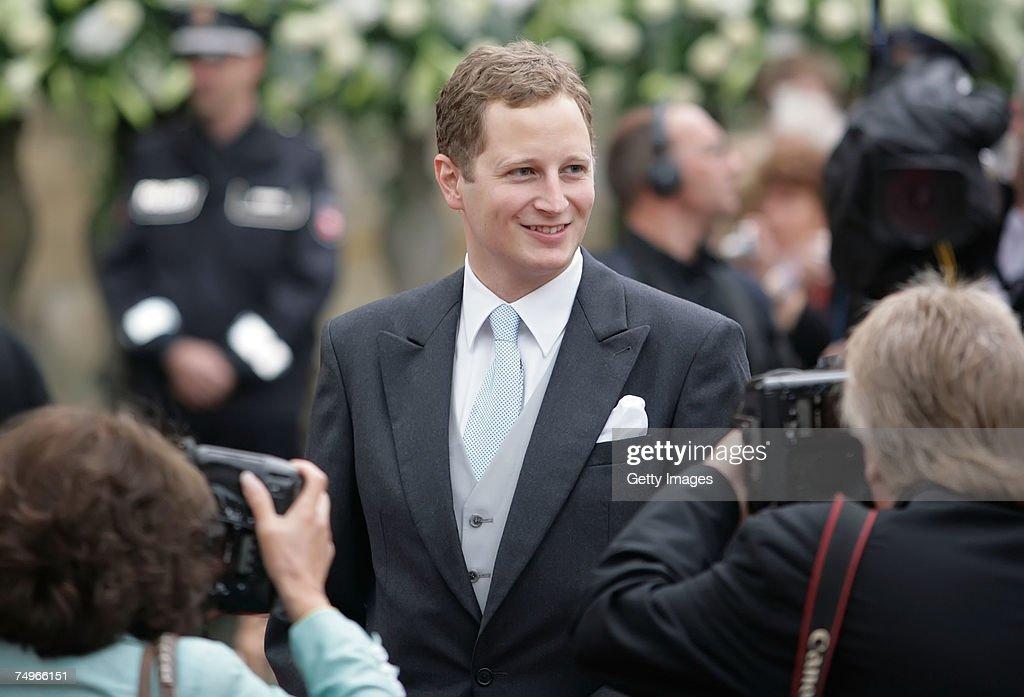 Prince Georg Friedrich von Preussen attends the wedding ceremony of Prince Alexander zu Schaumburg Lippe and Nadja Anna Zsoeks at the city church on June 30, 2007 in Bueckeburg, Germany.