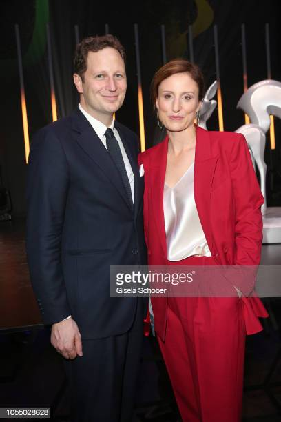 Prince Georg Friedrich von Preussen Prince of Prussia and his wife Princess Sophie von Preussen during the Tribute to Bambi 2018 charity gala benefit...