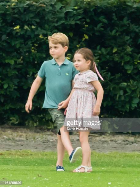 Prince George and Princess Charlotte attend The King Power Royal Charity Polo Day at Billingbear Polo Club on July 10 2019 in Wokingham England