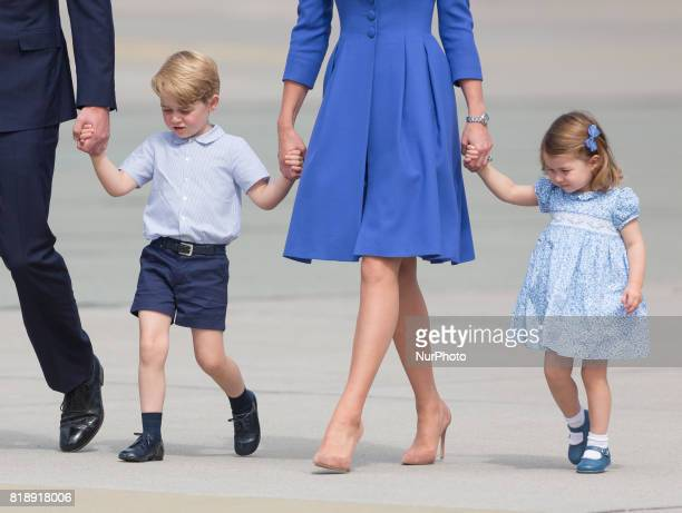 Prince George and Princess Charlottet before departure from Chopin Airport in Warsaw Poland on 19 July 2017