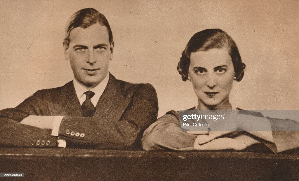 Prince George and Princess Marina, who became engaged on 28 August, 1934 (1935). Artist: Unknown. : News Photo