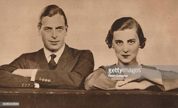 Prince George and Princess Marina who became engaged on 28 August 1934 From The Royal Jubilee Book 19101935 [Associated Newspapers Ltd London 1935]