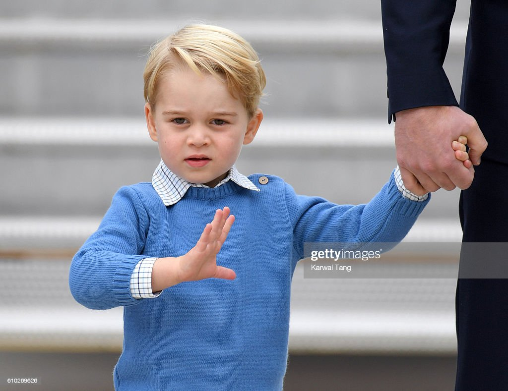 Prince George arrives at Victoria Airport ahead of the Royal Tour of Canada and Yukon on September 24, 2016 in Victoria, Canada.