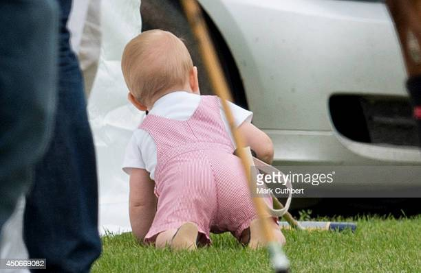 Prince George attends the Jerudong Park Trophy at Cirencester Park Polo Club on June 15 2014 in Cirencester England