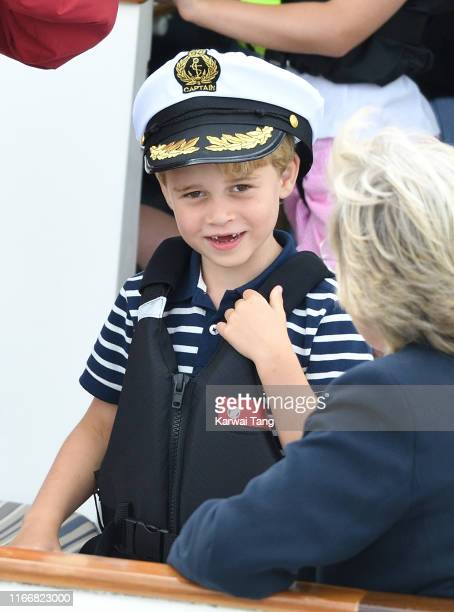 Prince George attends the King's Cup Regatta on August 08 2019 in Cowes England