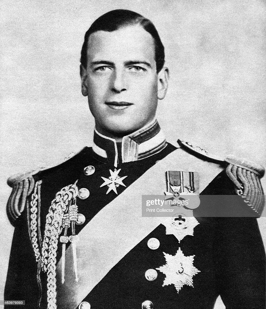Prince George, Duke of Kent, c1936. The Duke of Kent (1902-1942) was a member of the British Royal Family, the fourth son of King George V. Illustration from George V and Edward VIII, A Royal Souvenir, by FGH Salusbury, a souvenir book published as Edward VIII was crowned following the death of his father, George V, (Daily Express Publication, London, 1936).
