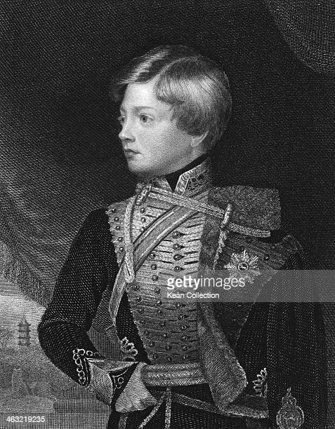 Prince George Frederick Alexander Charles Ernest Augustus of Cumberland later King George V of Hanover circa 1835 Engraved by T A Dean after a...