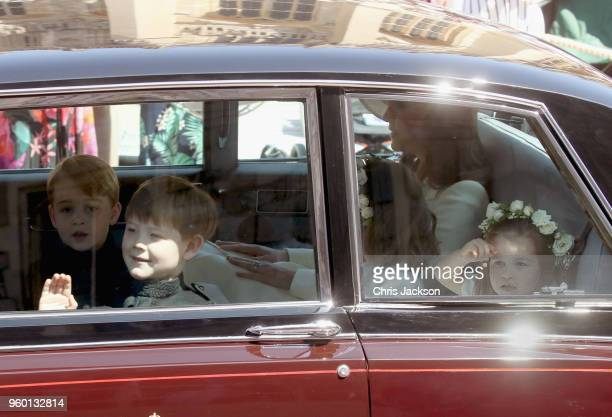 Prince George Jasper Dyer Florence van Cutsem and Princess Charlotte attend the wedding of Prince Harry to Ms Meghan Markle at St George's Chapel...