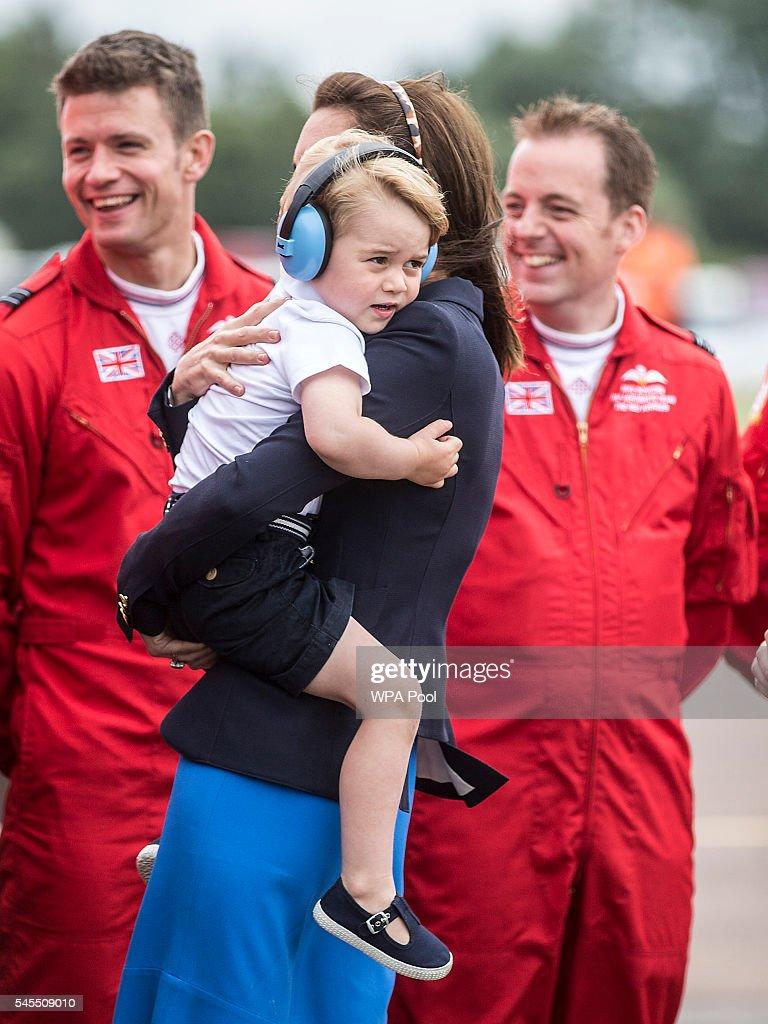 The Duke And Duchess Of Cambridge Visit The Royal International Air Tattoo : News Photo