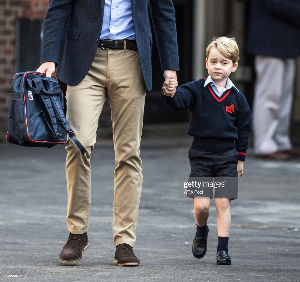 Prince George Attends Thomas's Battersea On His First Day At School : News Photo