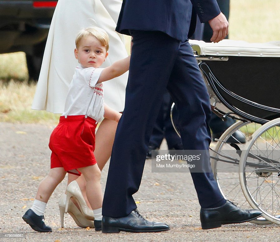 The Christening Of Princess Charlotte Of Cambridge : News Photo