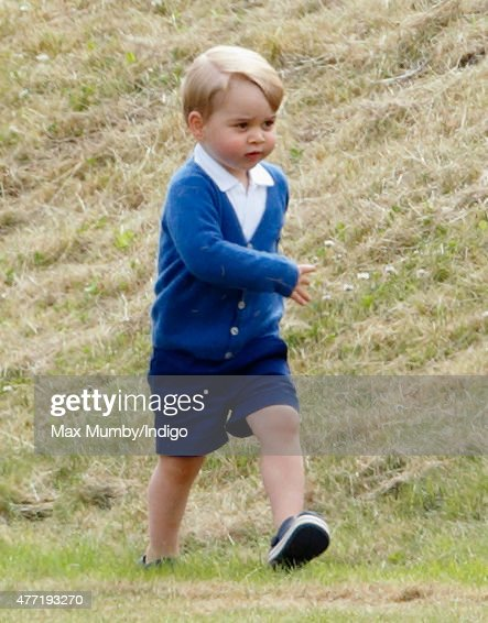 Prince George of Cambridge attends the Gigaset Charity Polo Match at the Beaufort Polo Club on June 14, 2015 in Tetbury, England.