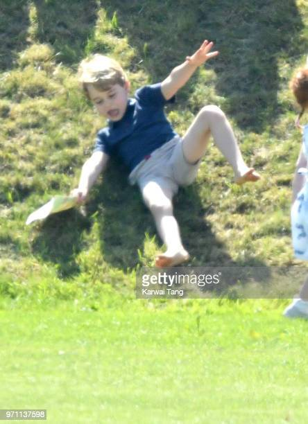 Prince George of Cambridge attends the Maserati Royal Charity Polo Trophy at Beaufort Park on June 10 2018 in Gloucester England