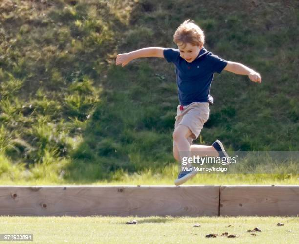 Prince George of Cambridge attends the Maserati Royal Charity Polo Trophy at the Beaufort Polo Club on June 10 2018 in Gloucester England