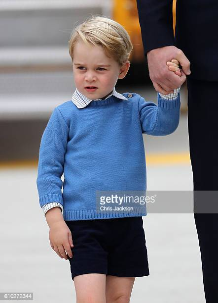 Prince George of Cambridge attends the Official Welcome Ceremony for the Royal Tour at the British Columbia Legislature on September 24 2016 in...