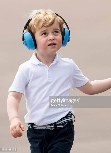 Prince George of Cambridge during a visit to The Royal International Air Tattoo at RAF Fairford on July 8 2016 in Fairford England