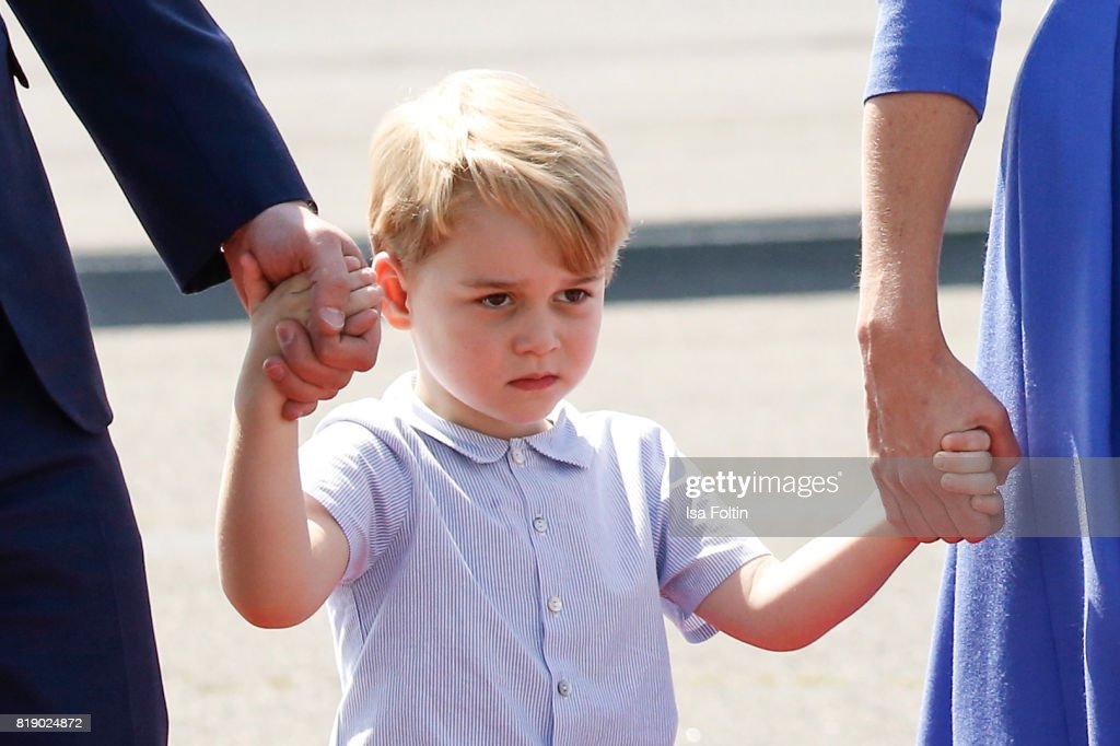 Prince George of Cambridge during an official visit to Poland and Germany on July 19, 2017 in Berlin, Germany.