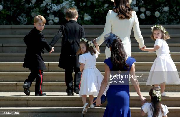 Prince George of Cambridge Jasper Dyer Princess Charlotte of Cambridge Catherine Duchess of Cambridge Jessica Mulroney Ivy Mulroney and Florence van...