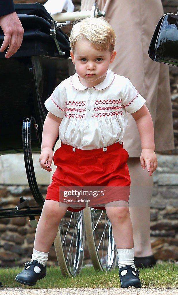 The Christening Of Princess Charlotte Of Cambridge : Nachrichtenfoto