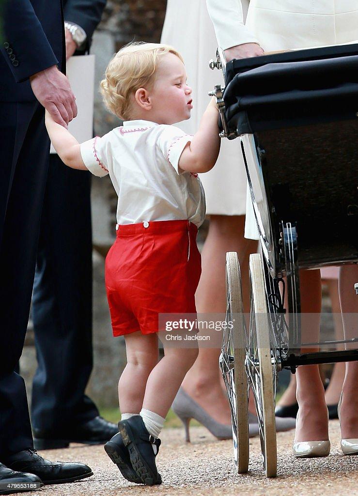 The Christening Of Princess Charlotte Of Cambridge : ニュース写真