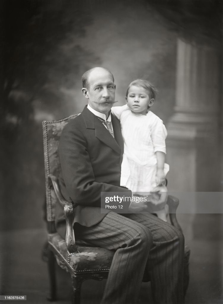Prince George of Greece and Denmark with his son Prince Peter of ...