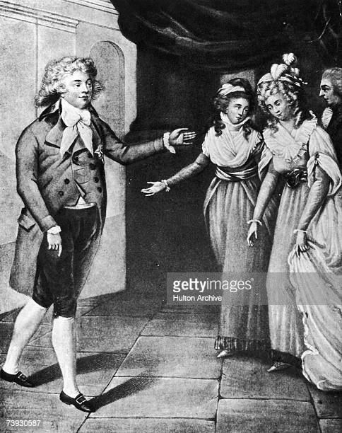 Prince George The Prince Regent and Prince of Wales meeting his future wife Princess Caroline of Brunswick for the first time June 1795