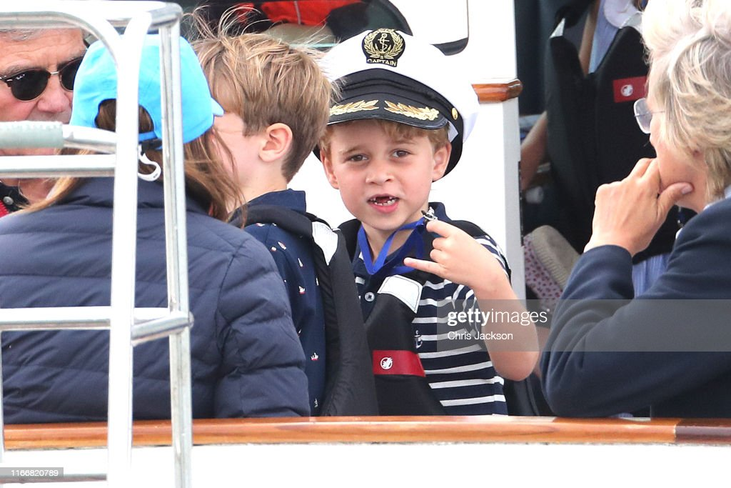 The Duke And Duchess Of Cambridge Take Part In The King's Cup Regatta : News Photo