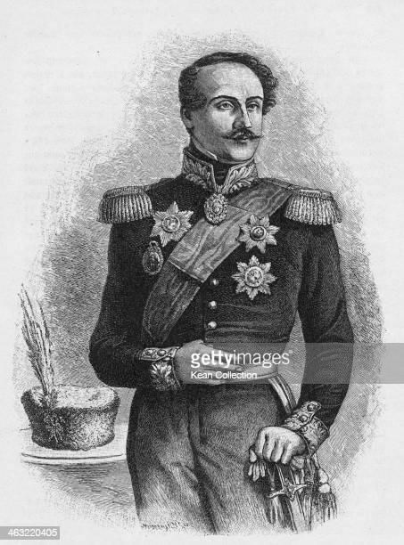 Prince Grigore Alexandru Ghica of Moldavia circa 1840 Engraved by Midermann