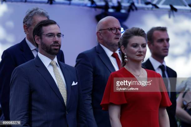 Prince Guillaume and Princess Stéphanie of Luxembourg attend celebrations of National Day on June 22 2017 in Luxembourg Luxembourg