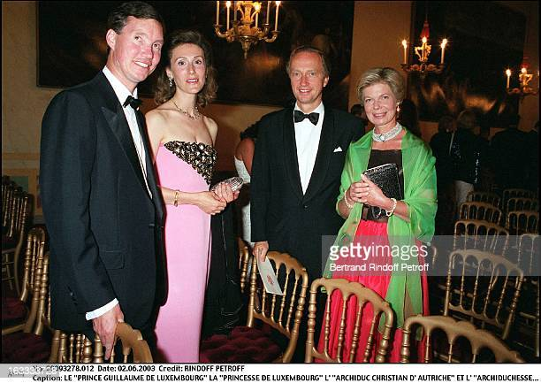 'Prince Guillaume De Luxembourg' 'Princess De Luxembourg' 'archduke Christian of Austria' and 'archduchess MarieAstrid of Austria' dinner to the...