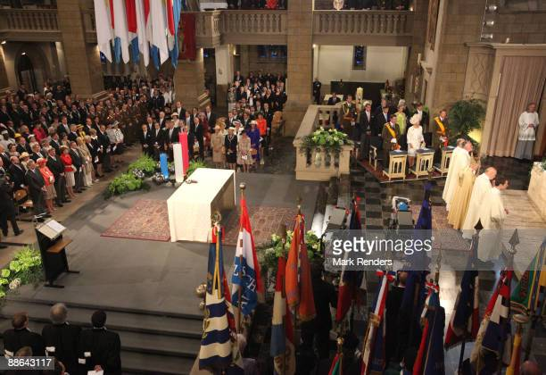 Prince Guillaume, Grand Duchess Maria Teresa, Grand Duc Henri, Prince Felix, Prince Sebastien and Princess Tessy and Prince Louis from Luxembourg...