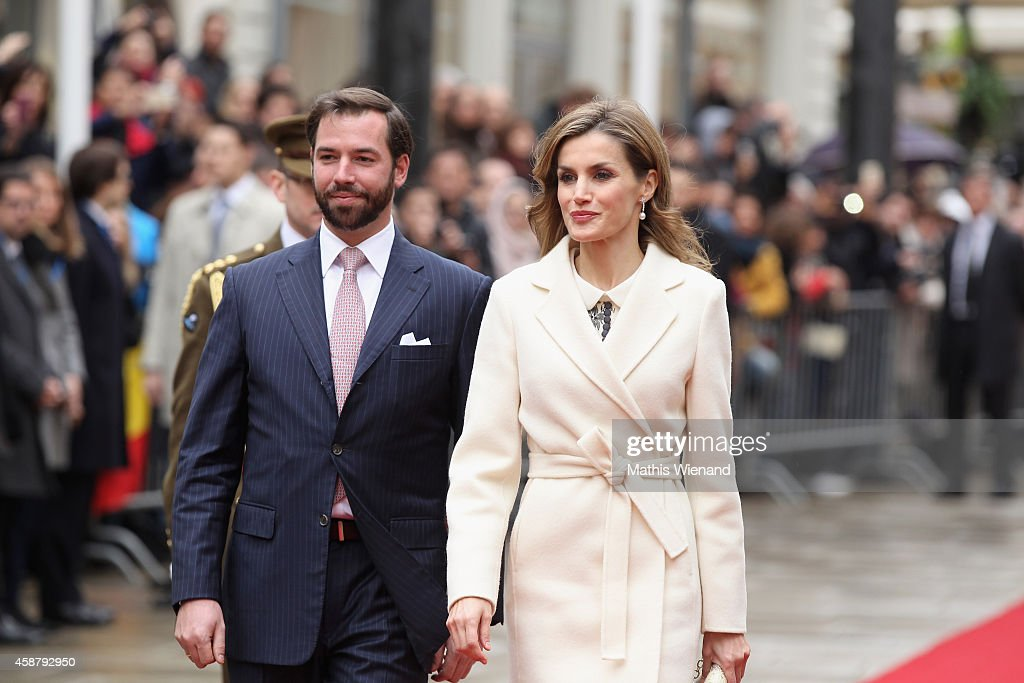 Prince Guillaume, Hereditary Grand Duke of Luxembourg and Queen Letizia of Spain attend a one-day official visit by the Spanish Royals on November 11, 2014 in Luxembourg, Luxembourg.