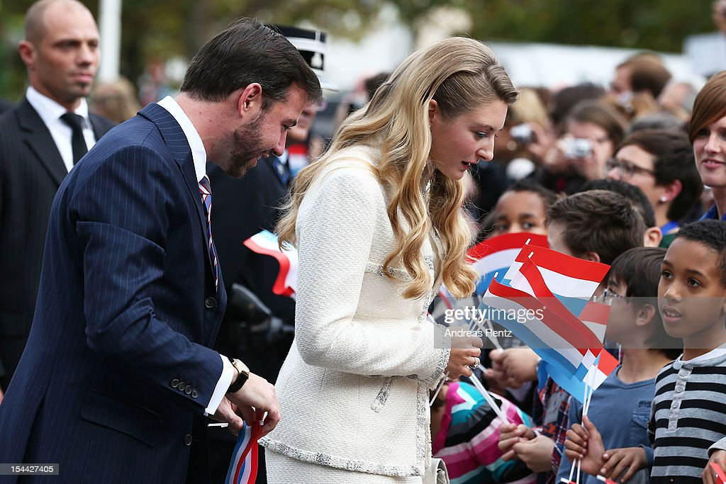 Prince Guillaume Of Luxembourg and Countess Stephanie de Lannoy attend the civil ceremony for the wedding of Prince Guillaume Of Luxembourg and Stephanie de Lannoy at the Hotel De Ville on October 19, 2012 in Luxembourg, Luxembourg. The 30-year old hereditary Grand Duke of Luxembourg is the last hereditary Prince in Europe to get married, marrying his 28-year old Belgian Countess bride in a lavish 2-day ceremony.